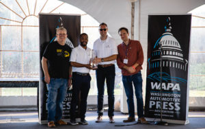 Maserati accepts the WAPA 2019 Rally Award