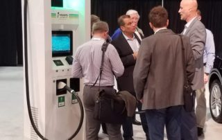 WAPA Members at an Electrify America Kiosk at the Washington Auto Show